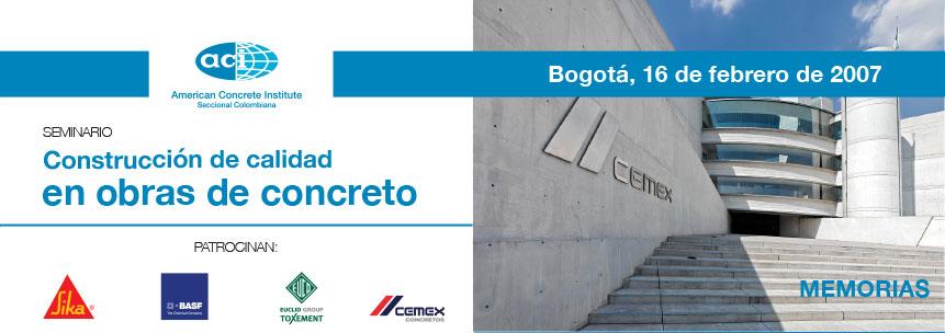 Construcción de calidad en obras de concreto