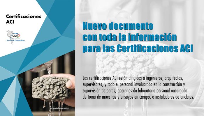 Documento Informativo para Certificaciones ACI